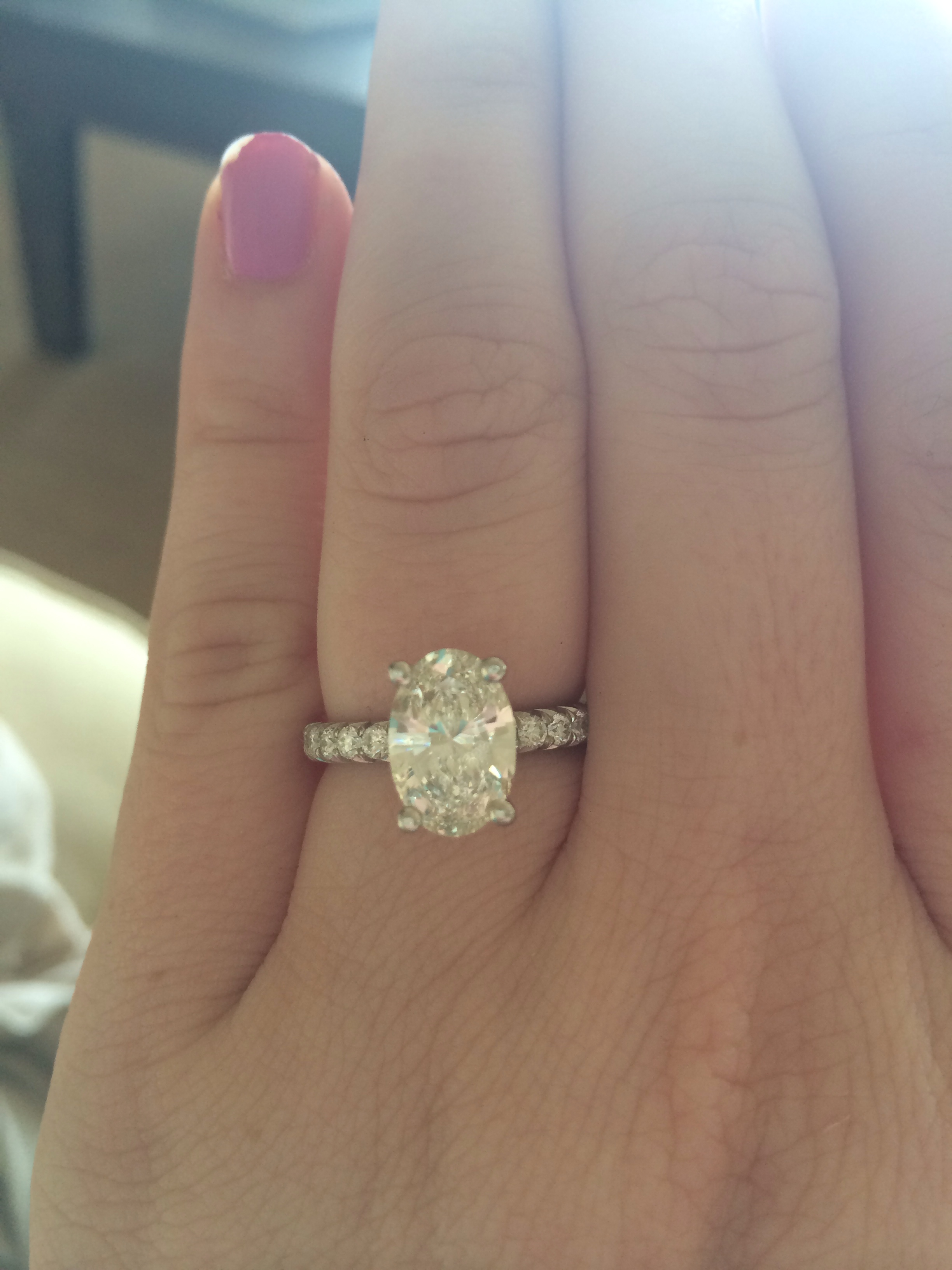 diamond oval engagement ring cut aj set