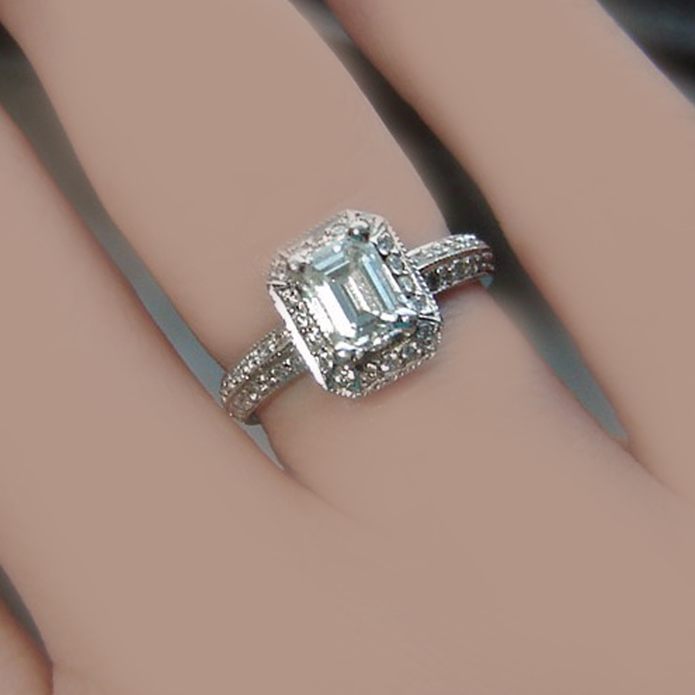 campbelljewellers diamond emerald jewellers cut engagement ring certified campbell halo products gia