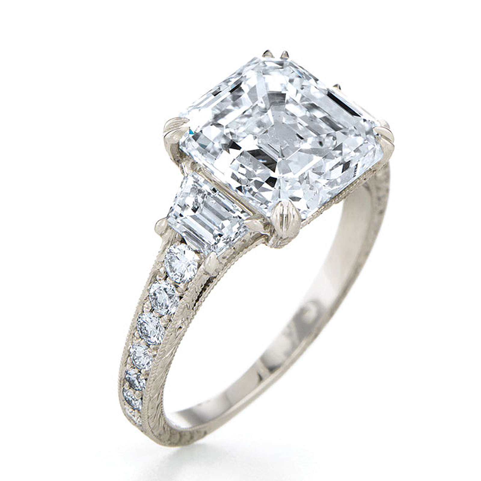 diamond three raine ring rings turgeon engagement diamonds row product