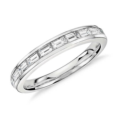 Baguette Cut Platinum 5 50 Ct Diamond Eternity Band In Channel Setting Wantmydiamond