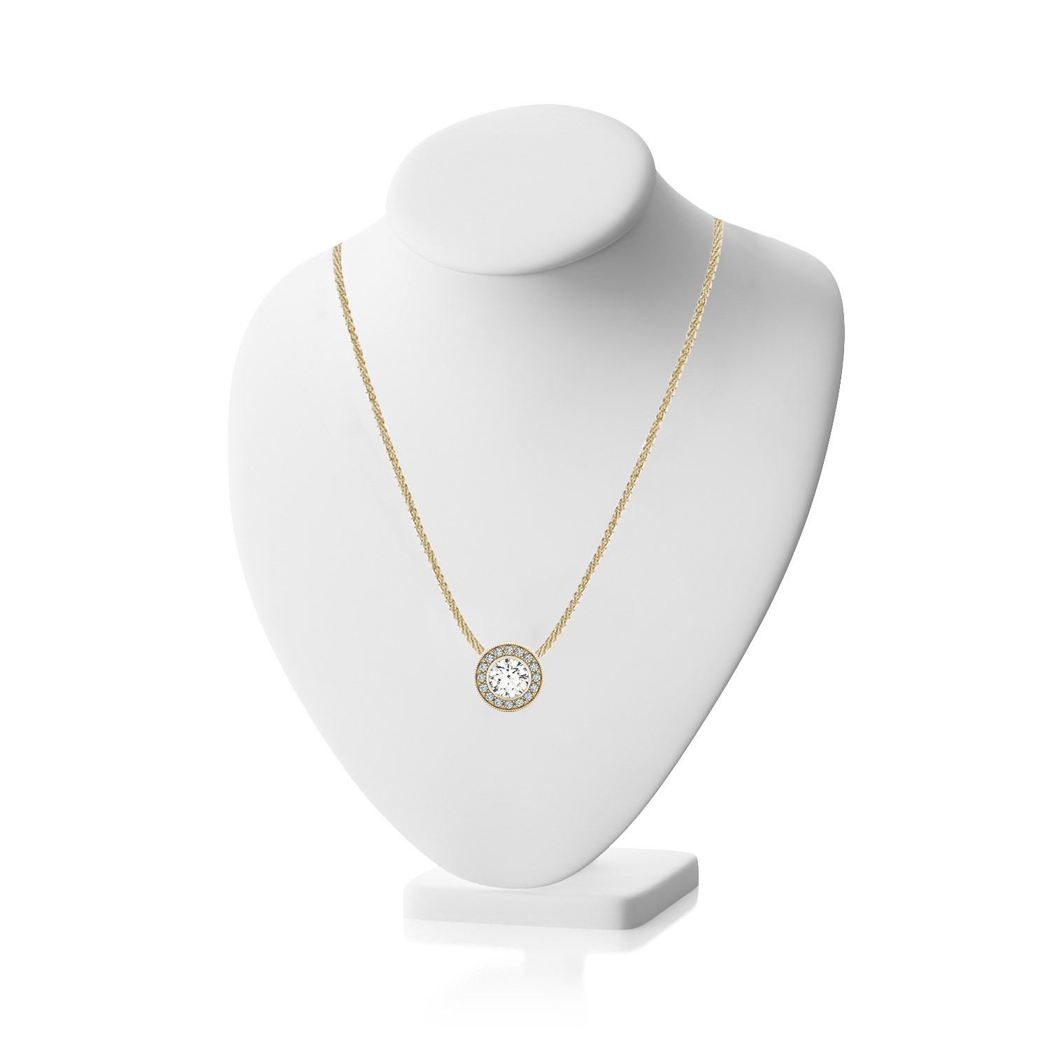 Gia certified 90 ctw anniversary pendant round cut diamond 14k gia certified 90 ctw anniversary pendant round cut diamond 14k white gold wantmydiamond aloadofball Gallery