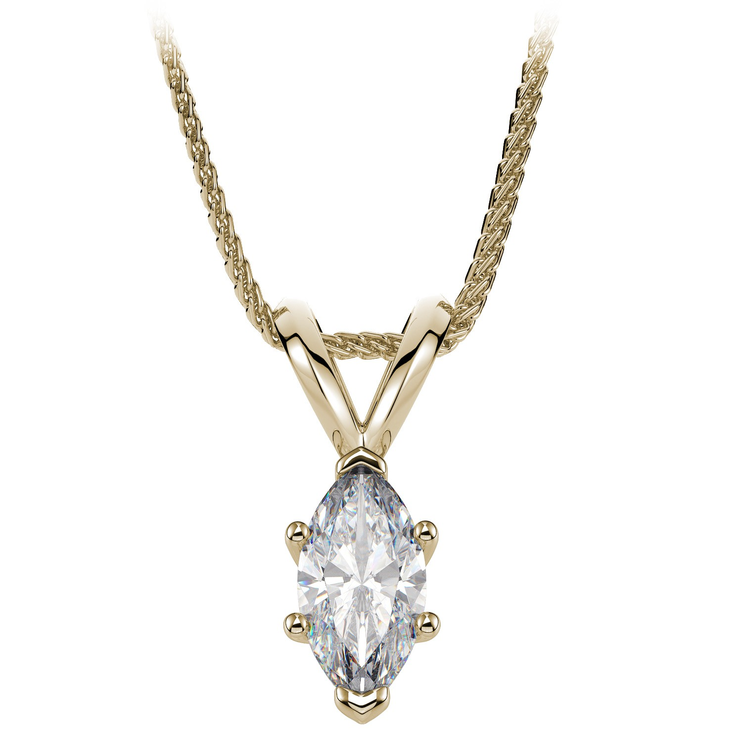 marquise com aria rose free chain necklace pendant white designs weave today gold shipping watches in product becb jewelry pave shaped pav overstock diamond