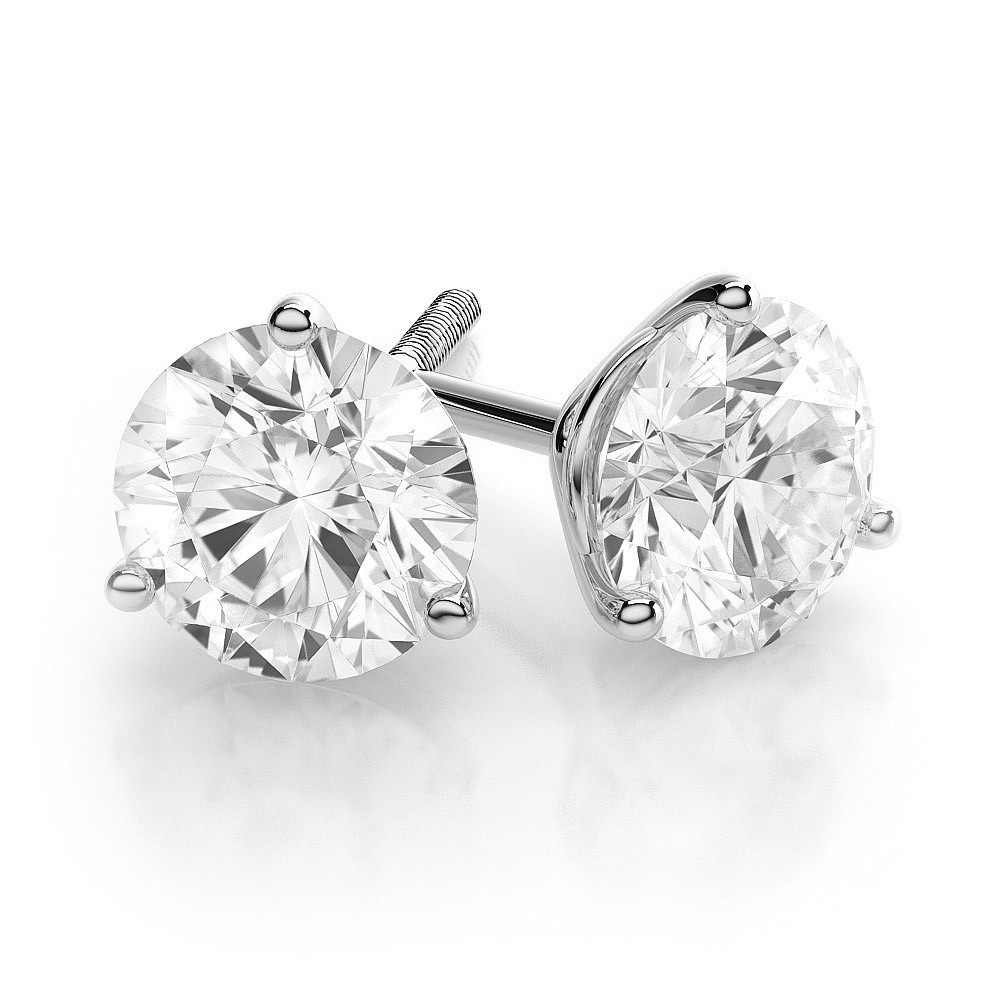 diamond brilliant products cut round benzdiamonds white ct stud earrings each