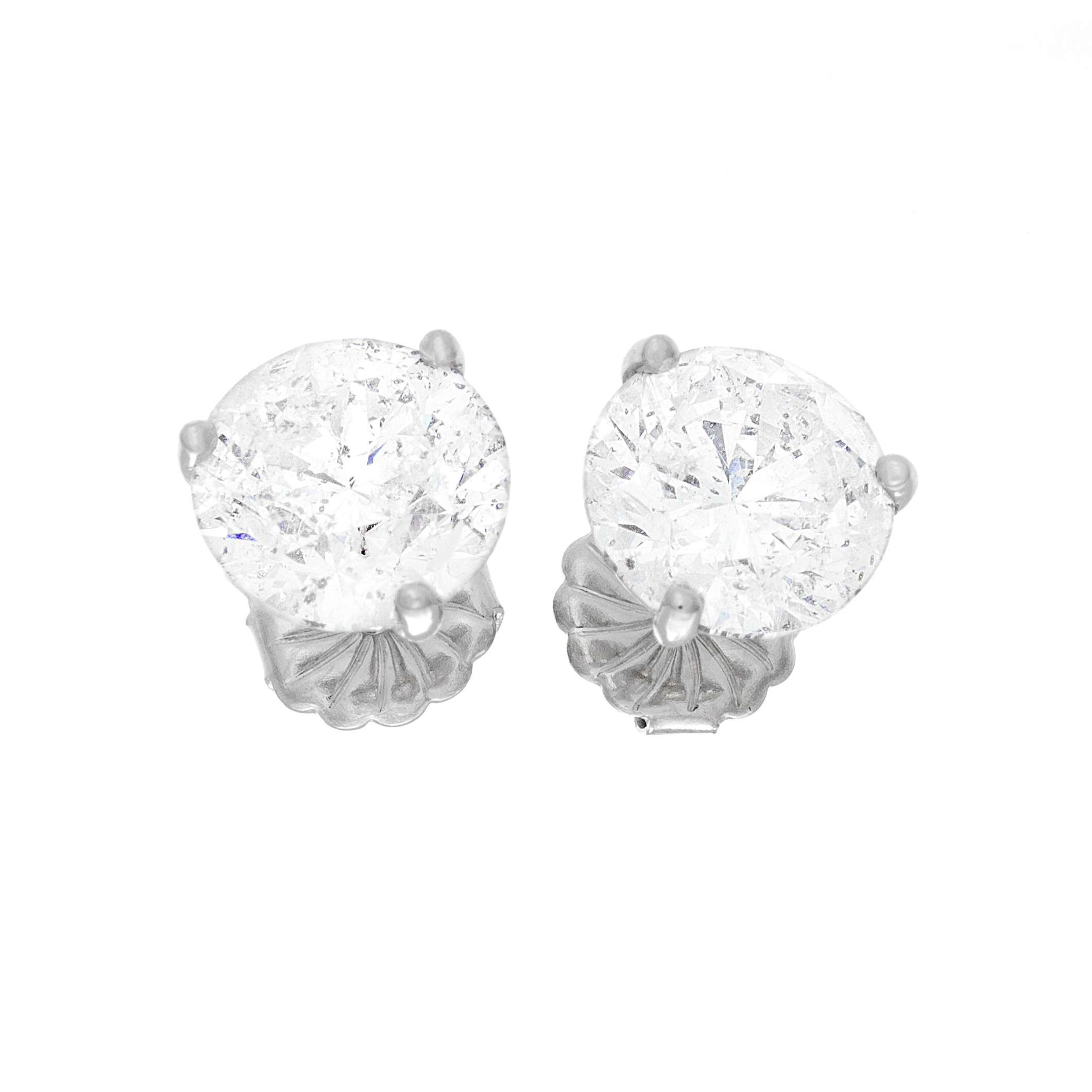 with trillion gold white diamond l earrings marquise round cut