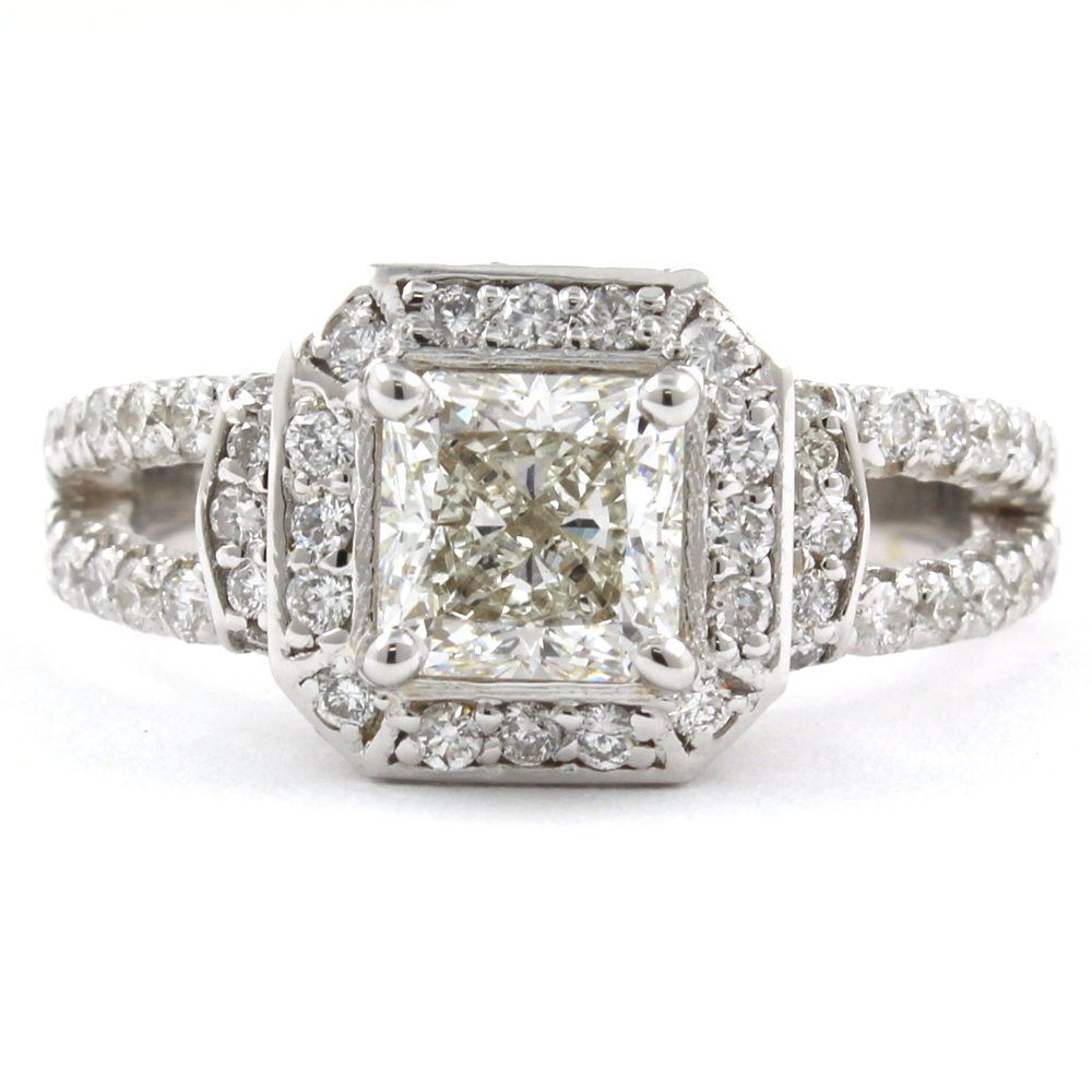 18k white gold gia certified radiant cut diamond for 26 carat diamond ring